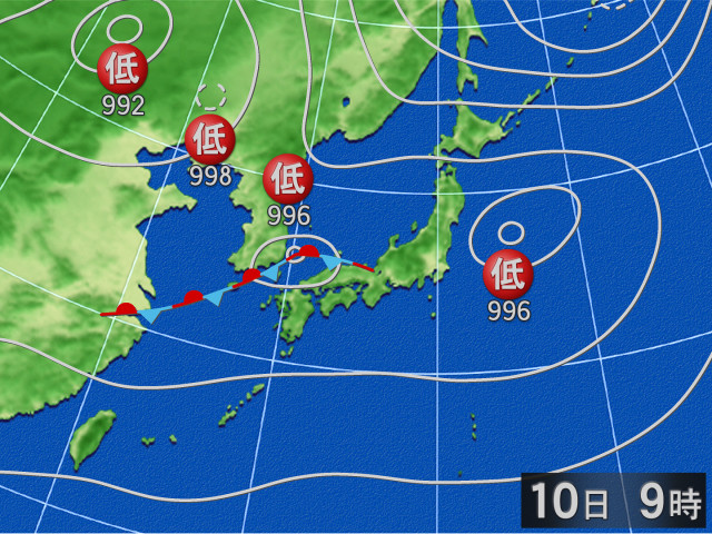 天気 予報 10 日間 天気 図