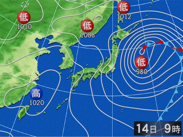 函館 天気 14 日間