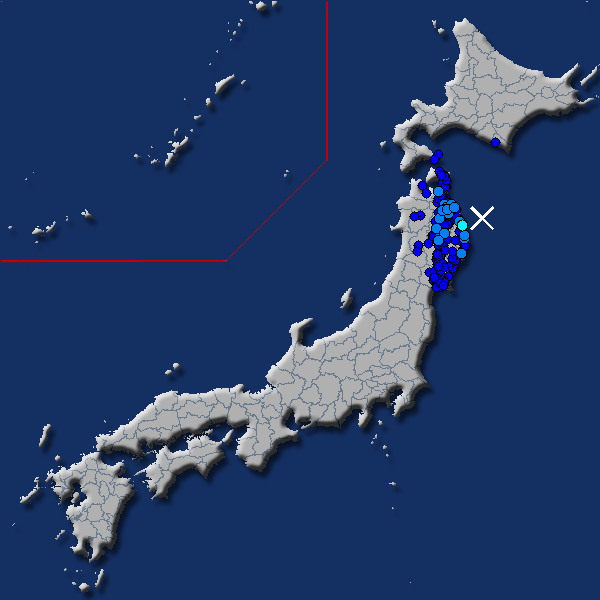 [震源地] 岩手県沖 [最大震度] 震度3 (2018年4月19日 20時38分頃発生) - goo天気