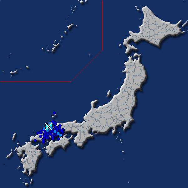 [震源地] 島根県西部 [最大震度] 震度3 (2018年4月23日 01時01分頃発生) - goo天気