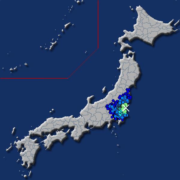 [震源地] 茨城県沖 [最大震度] 震度4 (2018年7月17日 04時34分頃発生) - goo天気