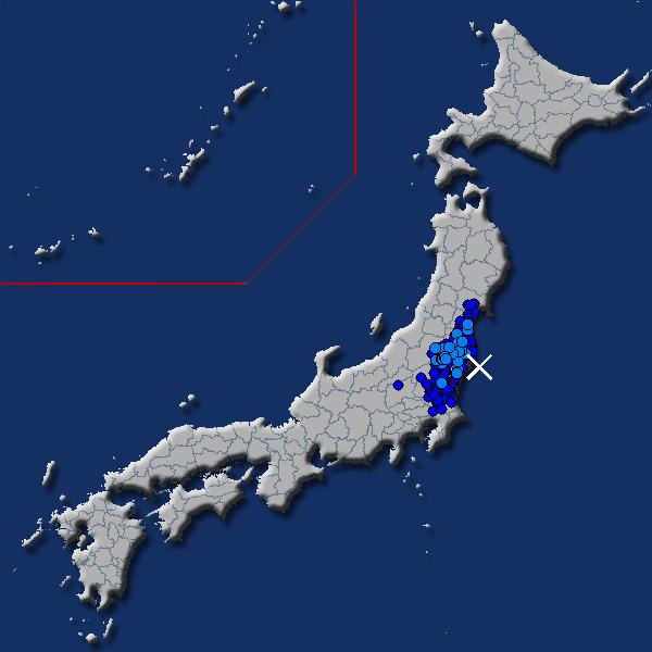 [震源地] 福島県沖 [最大震度] 震度2 (2018年7月19日 20時52分頃発生) - goo天気