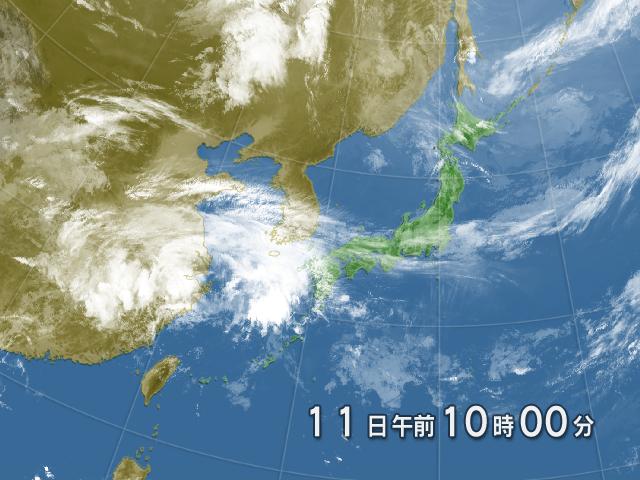 衛星画像 日本付近